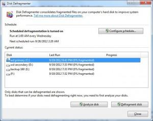 Disk Defragmenter 02