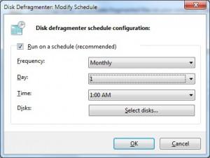 Disk Defragmenter Configure Schedule 05