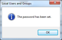 Administrator password has been set 05