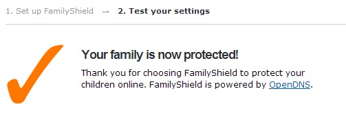 Your family is now protected