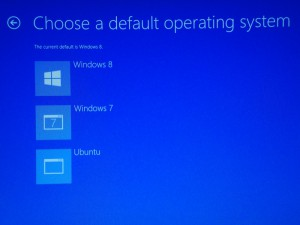 Change default OS in multi-booted OS