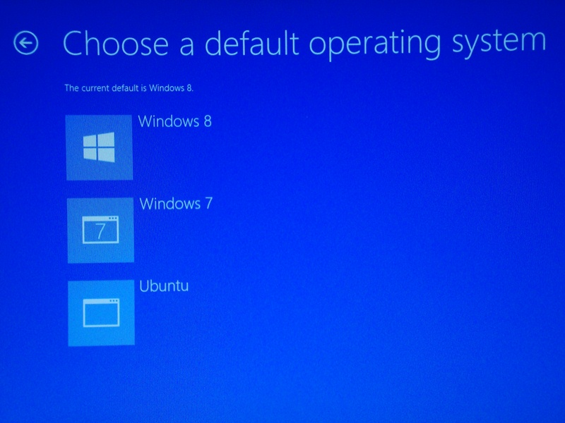 how to change boot order if windows 8 is installed as a