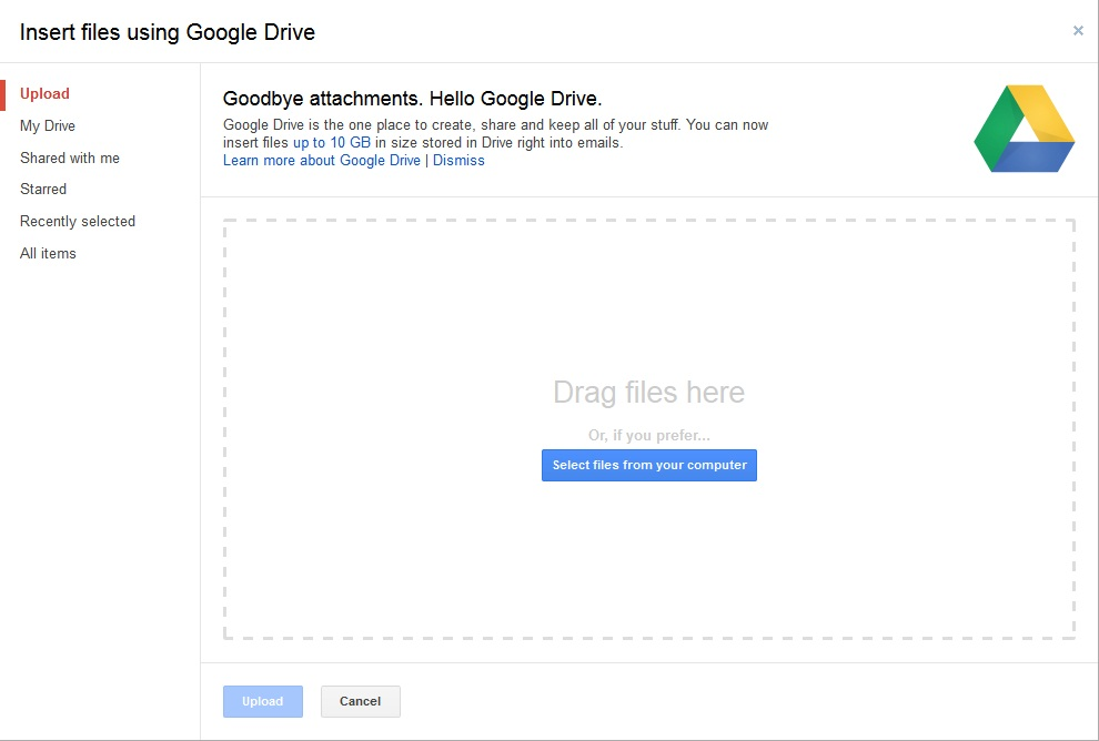 Send attachments bigger than 25 MB using Gmail and Google