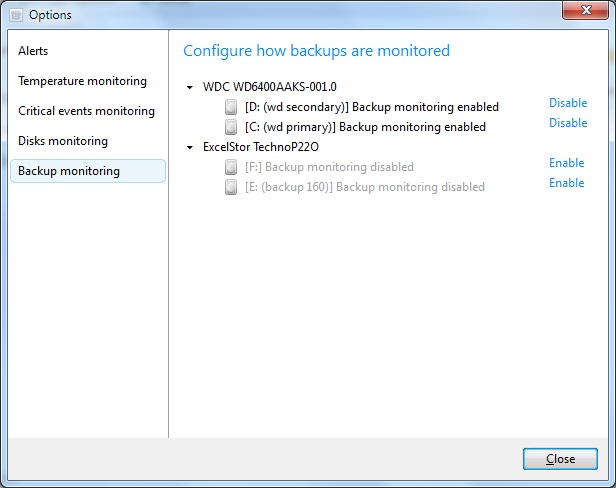 Configure Backup Monitoring