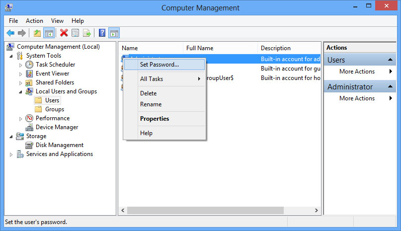 How to enable Administrator account in Windows 8