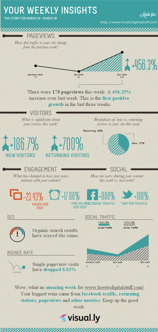 Infographic created from Google Analytics Insights