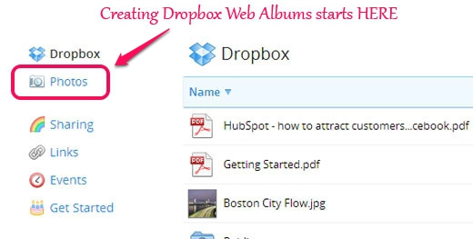 Creating custom Web Albums in Dropbox starts here
