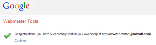 Your website is verified in Google Webmaster Tools