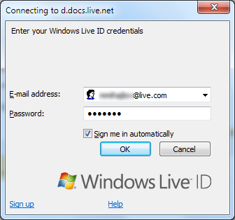 Authenticate with Windows LIVE ID