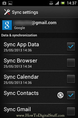 Enable Sync Contacts