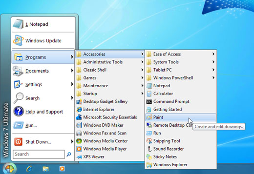 Classic Shell Start menu for Windows 8