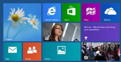 Windows Blue live tiles