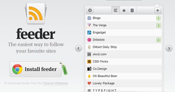 Feeder RSS reader
