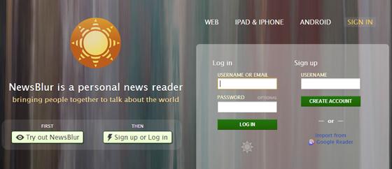 NewsBlur reader