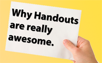 Create editable and printable handouts in PowerPoint 2013