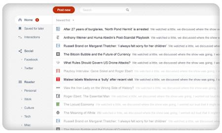 FlowReader RSS reader