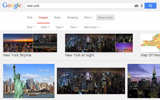 Google search images search tools
