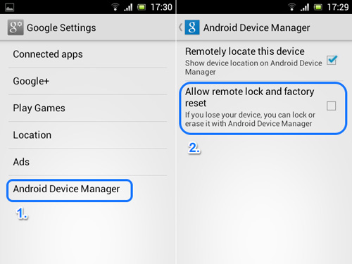 Google Settings Android Device Manager