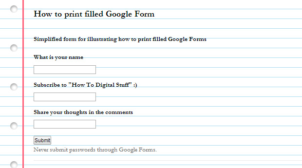 How to print filled Google Form: step by step guide