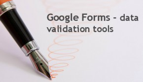 Google Form - data validation tool