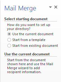 mail merge current document