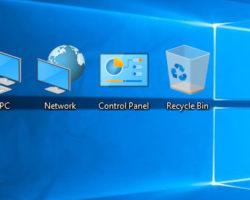 Win 10 desktop icons