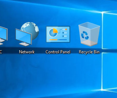 Win 10 desktop icons