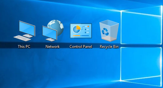 Display My Computer icon on Desktop in Windows 10