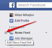 edit Facebook News Feed