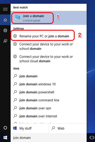 How to join your Windows 10 to a Windows domain (quicker way) - How